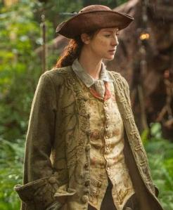 Caitriona Balfe as Claire Fraser playing