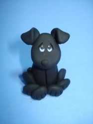 Image_dog_clay_black_figurine