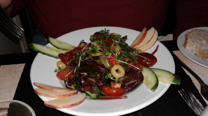 hubby's salad, Riverside Restaurant, Inverness