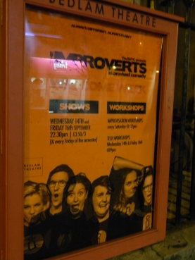 improv troupe ad, Edinburgh