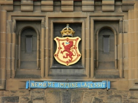 above entrance, Edinburgh Castle