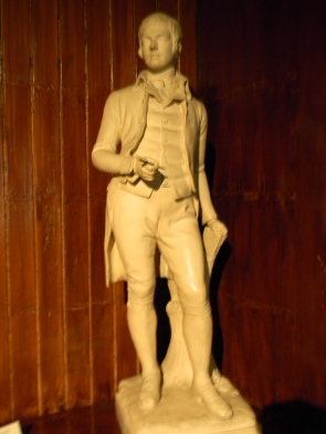 statue of Burns, Writers' Museum, Edinburgh