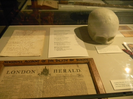 articles, cast of Burns's skull, Writers' Museum, Edinburgh