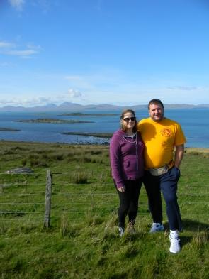 view to Isle of Jura, w/ husband, in Argyll