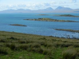 the Paps of Jura across the sound from Loch Sween