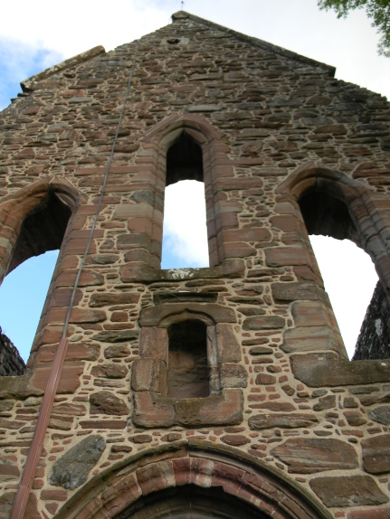 above entrance, Beauly Priory, Beauly. Image by C. L. Tangenberg
