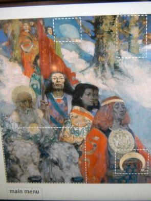 druid ceremony painting, National Museum Scotland