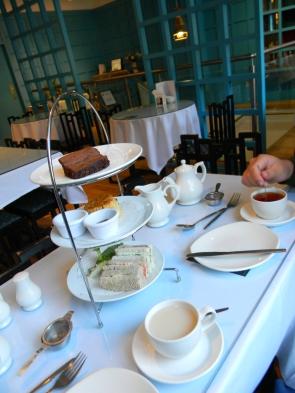 tea service at Willow Tea Room, Glasgow