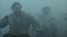 Fog-filled battle of Prestonpans. Rupert, Jamie. Image by STARZ/Sony Pictures Television, via Outlander-Online.com