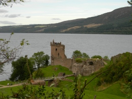 Urquhart Castle on Loch Ness. Image by C. L. Tangenberg