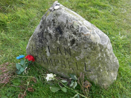 Clan Campbell memorial stone. Image by C. L. Tangenberg