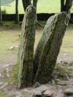 split standing stone. Image by C. L. Tangenberg