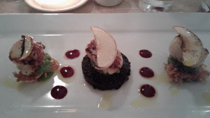 scallops & black pudding, Riverside Restaurant, Inverness