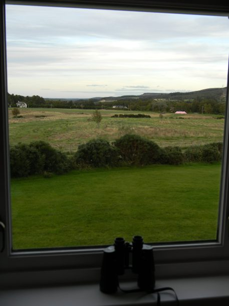 View of farm from Nairn suite, Daviot Lodge